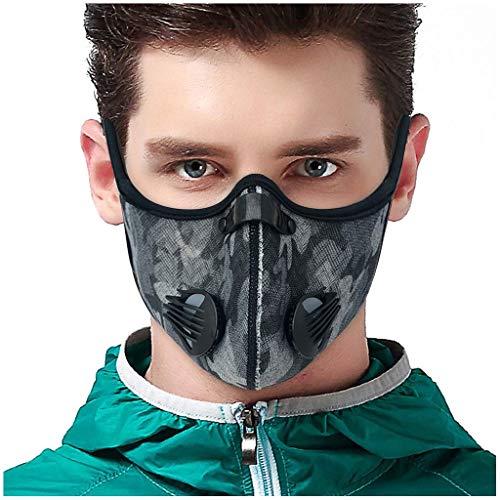 Aktivkohle Outdoor Mundmaske Camouflage Gesichtsmaske Schutzmaske (Grau)