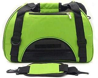 MAOSHE Pet Bag Dog Backpack Pet Out Bag Portable Bag Dog Bag Travel Bag Dog Supplies Fashion Leisure Travel (Color : Green)