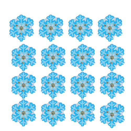 TENDYCOCO 25Pcs Christmas Illuminated Snowflake Brooches LED Glowing Badges Breastpin Jewelry Xmas Gifts