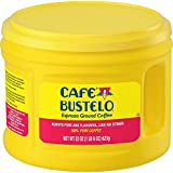 Cafe Bustelo 22oz Plastic Jug Espresso Ground Coffee, Dark Roast