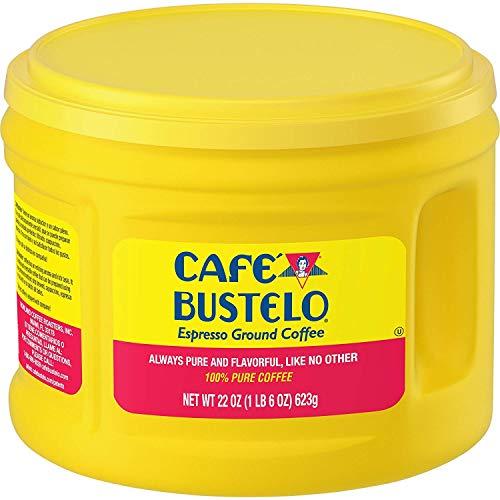 Cafe Bustelo 22oz Plastic Jug Espresso Ground Coffee, Dark Roast
