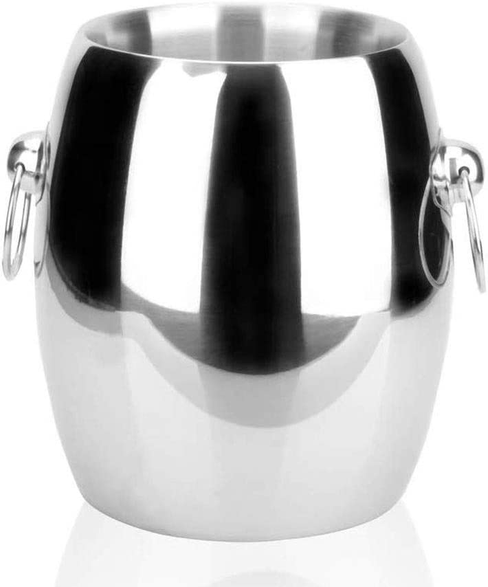 WJCCY Ice Bucket - I4.5L Double Thick Ranking TOP8 Steel OFFicial mail order Stainless