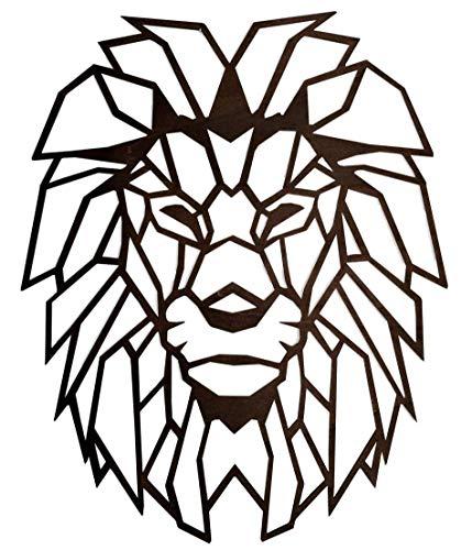 Löwe Wandbild aus Holz | Wanddeko | geometrischer Löwe | Sternzeichen Löwe | verschiedene Farben und Größen | 3D Skulptur | geometric art | geometrische Tiere | Geometrie | Löwenkopf |