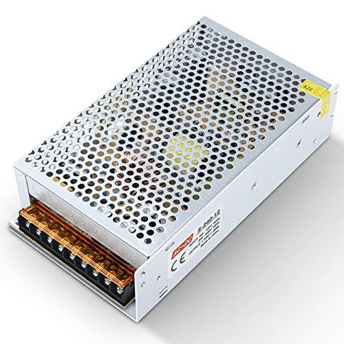 Kingwei 12V 20A Fuente de Alimentacion Transformador Interruptor,Transformador de Potencia,Transformador de Voltaje para Tira de LED,AC 100V / 240V a DC 12V 20A 240W.