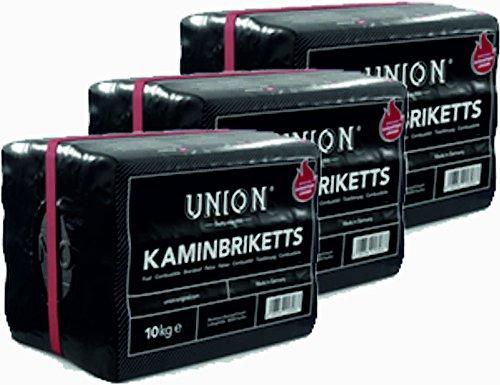 Preisvergleich Produktbild Hoyo Technology GmbH 30 Kg Braunkohle Unionbriketts Braunkohle Kaminbriketts