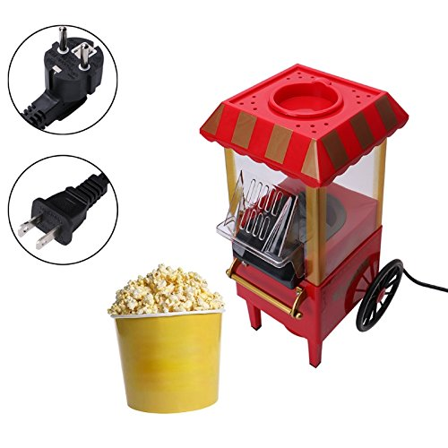 Best Prices! QWERTOUY 110V 220V Useful Vintage Retro Electric Popcorn Popper Machine Home Party Tool