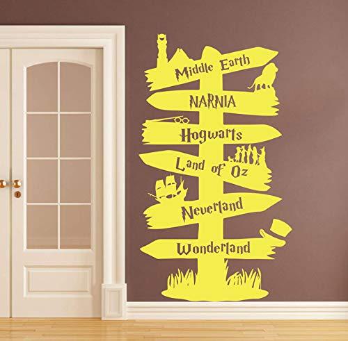 EyingEr Sticker Mural Chambre Bébé Chambre D'Enfant Seigneur D'Anneau Harry Potter Autocollant Mural Salon Vinyle 98 * 56 Cm