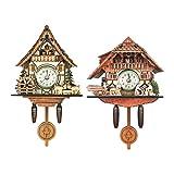 MERIGLARE 2pcs Mouvement Coucou Chalet Mouvement D'horloge à Quartz Moderne