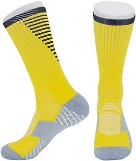 YiyiLai Men Sports Full Cover Anti Skid Football Athletic Crew Socks