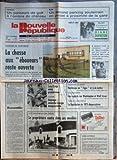 NOUVELLE REPUBLIQUE (LA) [No 13101] du 12/11/1987 - MUTINERIE DE SAINT-MAUR / LA CHASSE AUX EBOUEURS RESTE OUVERTE - JACQUES HYVER LE RAVISSEUR DE MAURY-LARIBIERE A ETE BLESSE - RASSEMBLER PAR TARIBO - LE PROPRIETAIRE RENTRE DANS SES MEUBLES A VITRY-AUX-LOGES / ACTION DIRECTE - MITTERRAND EN VENDEE / HOMMAGE AU TIGRE ET A DE LATTRE - CODE DE LA NATIONALITE - LES SPORTS - RUGBY - CYCLISME / JEANNIE LONGO SOUPCONNEE DE DOPAGE -