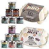 Gepp's Feinkost Mini Genussreise Geschenkset I Mit 12 leckeren Minis - Gewürze, Dips, Saucen und Konfitüren I BBQ Tasting Box zum Marinieren & Grillen I Picknick Box für Geschmacksausflüge (A0035)
