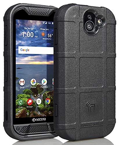 Nakedcellphone Compatible with Case Kyocera Duraforce Pro 2, [Black] Special Ops Tactical Armor Rugged Shield Flexible Cover [Anti-Fingerprint, Matte Texture]