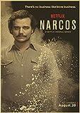 Handaxian Retrato clásico de Narcos Colombiano Pablo Serie de TV del Crimen Cartel Retro Artista decoración de Bar en casa 50x70cm sin Marco