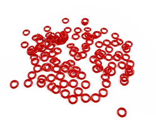 Rubber O-Ring Switch Sound Dampeners for Mechanical Gaming Keyboard keyswitches (Cherry MX, Gateron) - 135 pcs (1.5mm 50A, Red)