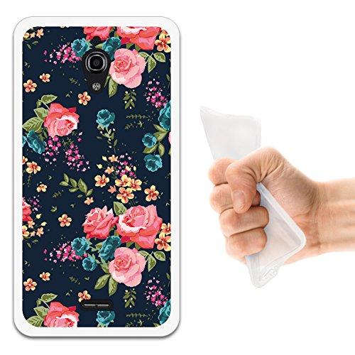WoowCase Alcatel OneTouch Pixi 4 (6) 3G Hülle, Handyhülle Silikon für [ Alcatel OneTouch Pixi 4 (6) 3G ] Vintage Blumen Rosen Handytasche Handy Cover Case Schutzhülle Flexible TPU - Transparent