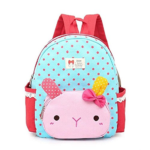 Suerico Cute Rabbit Toddler Backpacks Kids School Bags Children Preschool Lunch Bags (blue)