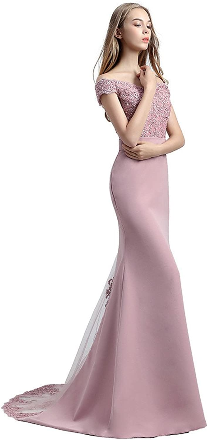Homecy Off The Shoulder Sexy Mother of The Bride Dresses Lace Long Evening Dresses