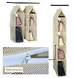 Organizador de armario ropero para colgar compuesto por 4 compartimentos desmontables,...
