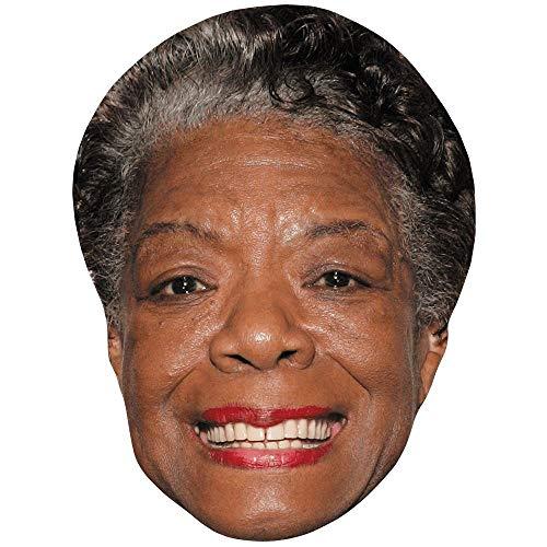Celebrity Cutouts Maya Angelou (Smile) Maske aus Karton