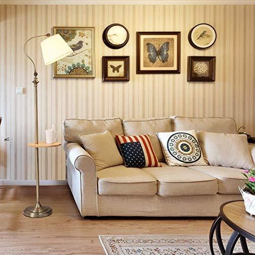 EIU Retro vloerlamp metalen zuil vloerlamp met planken voor woonkamer slaapkamer regelbare lampkop staande lamp, 160cm M20-02-26