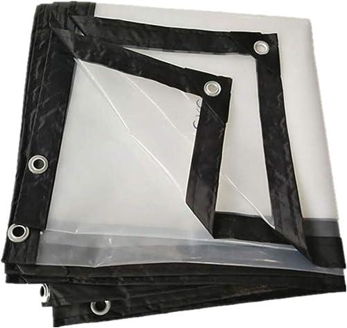 F-S-B BacheBordure épaisse Transparente Feuille de Plastique imperméable perforée Balcon Film de Plante de Fleur succulente,5  6m