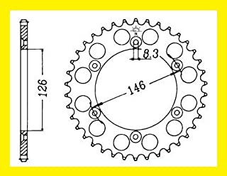 Corona in alluminio arancione 48/denti Kit catena per KTM 125/150/250/350/400/450/520/525/600/620/625/640/JLP Racing ESJOT