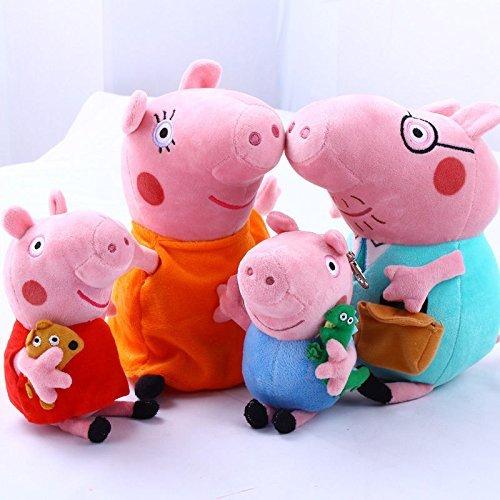 4Pcs Piggy Pig Family Doll Stuffed Toy 12' DADDY MOMMY 8' Children - Bundle/Bulk Buy