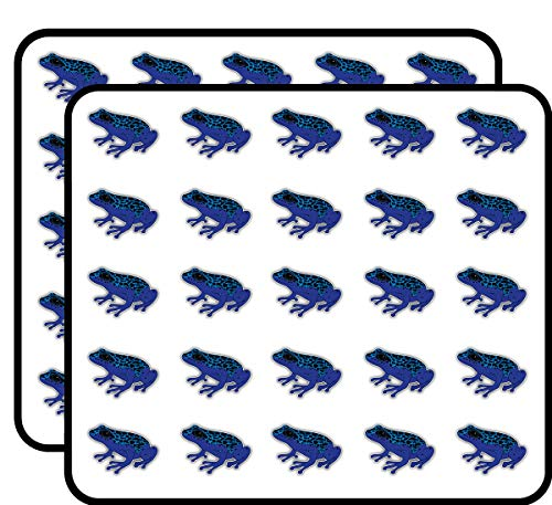 Poison Dart Frog Art Decor Sticker for Scrapbooking, Calendars, Arts, Kids DIY Crafts, Album, Bullet Journals 50 Pack