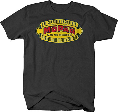 Racing Classic Logo Hotrod Muscle Car Vintage Car Graphic T Shirt for Men XLarge Graphite