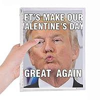 アメリカのばかな大統領は、トランプの画像 硬質プラスチックルーズリーフノートノート