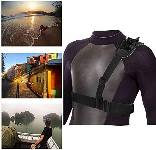 Navitech Adjustable Shoulder Body Strap Harness Mount Strap = Compatible with The GoXtreme Blackhawk 4K + Action Camera