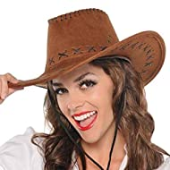 Amscan 3921128 Faux Brown Suede Stitched Cowboy