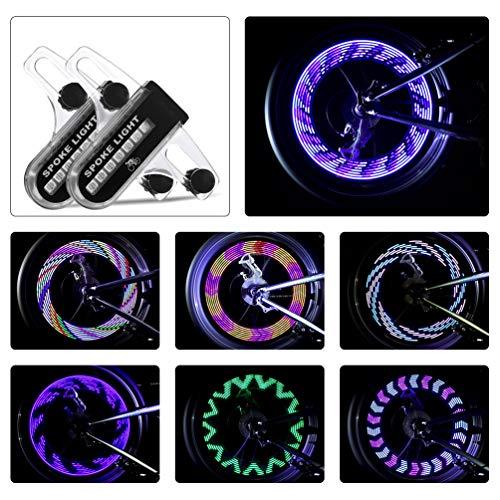 LEDGLE Bike Wheel Lights,Bike Accessories with LED Waterproof Spoke Lights,Bike Lights with 30 Pattern,for Boys Bike,Girls Bike and Adults Bike
