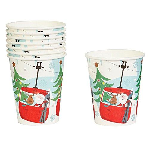 Neviti 8 Vasos diseño navideño, colección Festive Fun