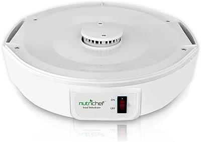 NutriChef, máquina para deshidratar alimentos. Conservadora de alimentos eléctrica, profesional, con varios niveles, juguera de carne o cecina de vaca, desecador de frutas y verduras con 5 bandejas apilables, alta circulación de calor (PKFD12)
