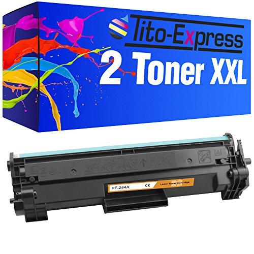 Tito-Express Platinum Serie 2 Toner cartridges XXL Black compatibel met HP CF244A 44A Laserjet Pro M15 M15A M15W M17A M17W M28A M28W CF 244 A | 1.000 pagina's