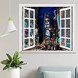 DKISEE Wpw1206 - Adhesivo decorativo para pared, diseño de Times Square at Night 3D, 47 x 50 cm