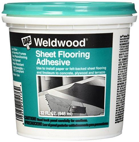 DAP 7079825176 Sheet Flooring Adh Qt Raw Building Material, Off-White