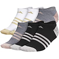 6-Pack adidas Women's Superlite No-Show Socks (Multicolor)