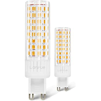 G9 Base Bulbs 550LM Pack of 6 60W Halogen Equivalent G9 Soft White Bulbs for Home Lighting Comzler G9 LED Bulbs Bi Pin Base 6W Soft White 3000K Non-dimmable