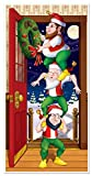 Beistle Christmas Elves Door Cover, 30-Inch by...