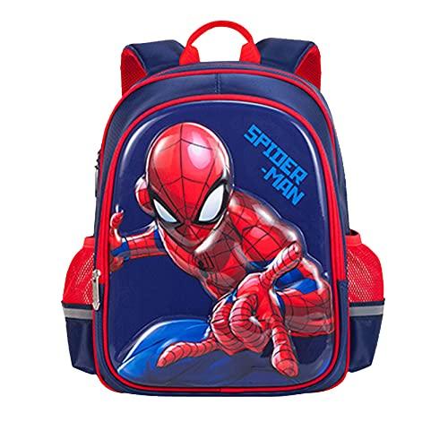 Xyh723 Mochila para Niños Spider-Man Mochilas Escolar Viajes De Vacaciones Superhéroe Dibujos Animados Adolescentes Impresión 3D Libro Maleta Regalo De Cumpleaños,Red-One Size