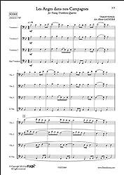 PARTITION CLASSIQUE - Les Anges dans nos Campagnes - TRADITIONNEL - Quatuor de Trombones