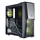 Cooler Master MasterBox MB500 TUF Gaming Alliance Edition ATX Mid-Tower w/TUF Aesthetic Design, Semi-Meshed Front Ventilation, Tempered Glass Side Panel & 3X 120mm RGB Fans