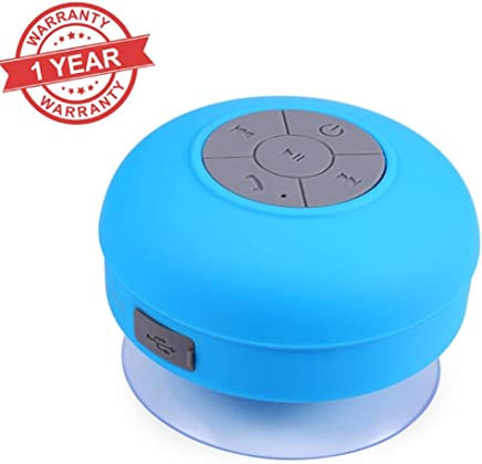 Enraciner Mini Portable Waterproof Bluetooth Wireless Stereo Shower Speaker for All Android/iOS Devices
