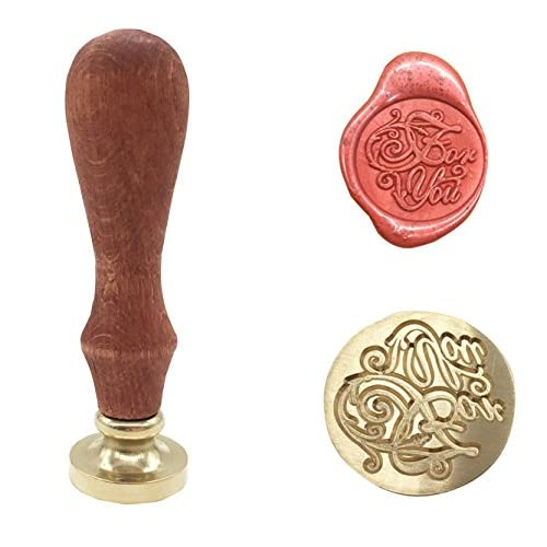Harrington font Personalised Wedding Initial Letter Wax Seal Stamp 25mm with 2 or 2 with a /& initials wax seal by CCS