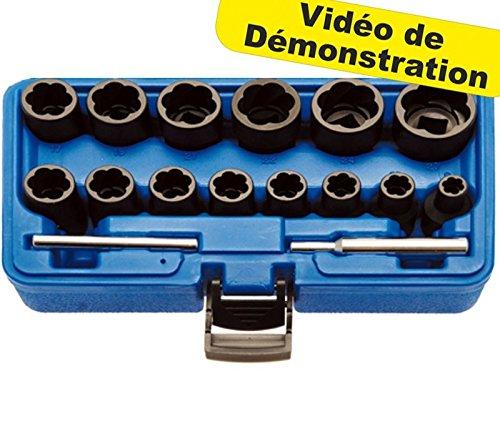 AFD67 TECHNIC - Kit de Extractor de Pernos de Tuerca Usados, 8-27 mm, BGS