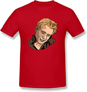 Louishollingsworth 100% Cotton Armin Van Buuren Cool Graphic Tees Red Graphic Short Sleeve T-Shirts for Mens