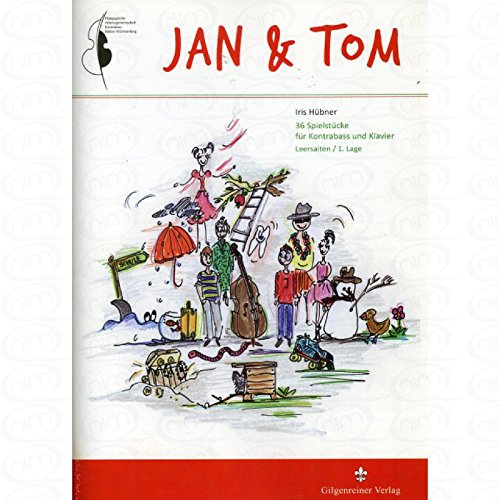 Jan + Tom - arrangiert für Kontrabass - Klavier [Noten/Sheetmusic] Komponist : Huebner Iris