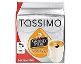 Tassimo Cápsulas de Café Grand Mere Petit Déj, Café de Desayuno, Café Molido de Tueste Natural, 16 T-Discs